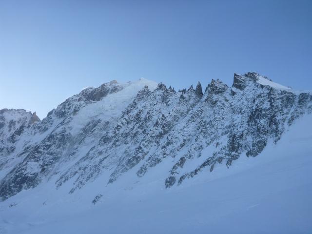 Aiguille Verte, Grands Montets ridge, 21.12.14