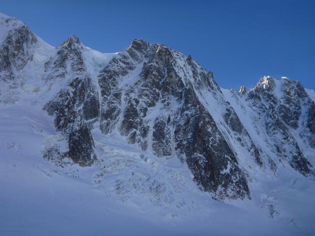 Les Droites north east face, 21.12.14