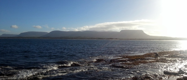Benbulben and the Dartry Mountains, seen from Streedagh Point on a much nicer day