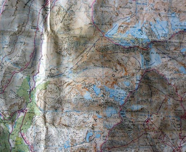 Combe de Pouce map