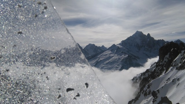 Aiguille Verte through the looking glass