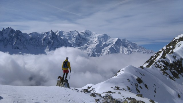 Chris and Mont Blanc
