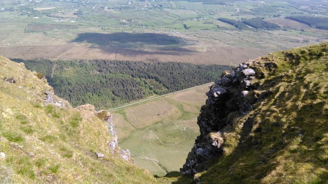 Breche in Benbulben's south face