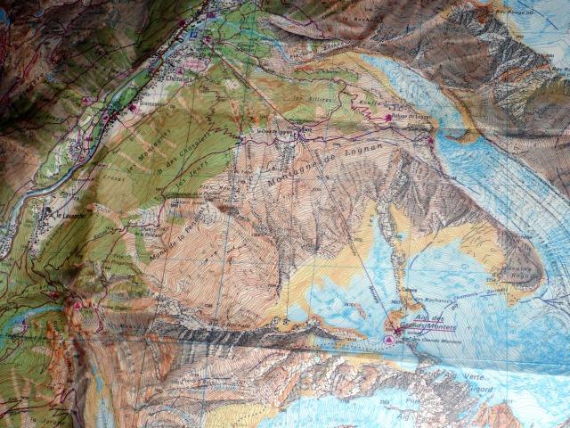 Grands Montets map