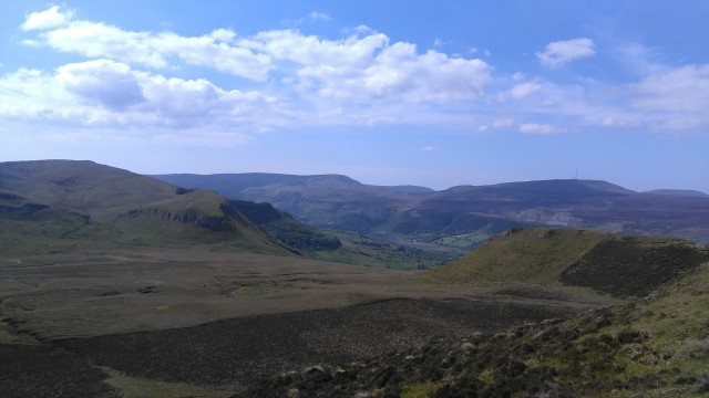 Slievemore and Truskmore from Keelogyboy North
