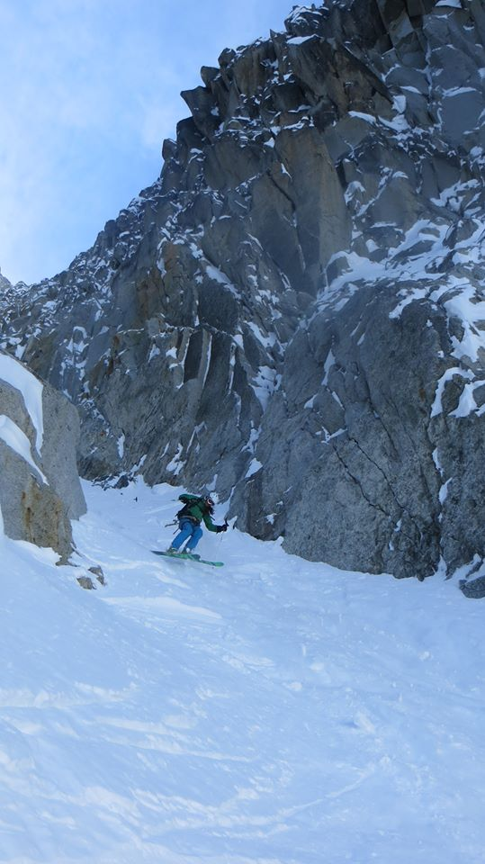 Pete in Col du Plan exit couloir again