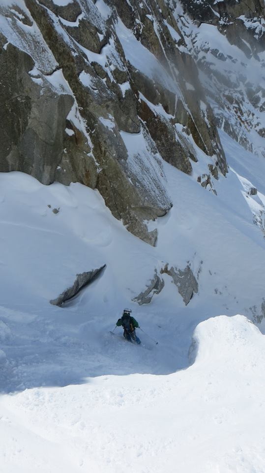 Pete in West Couloir