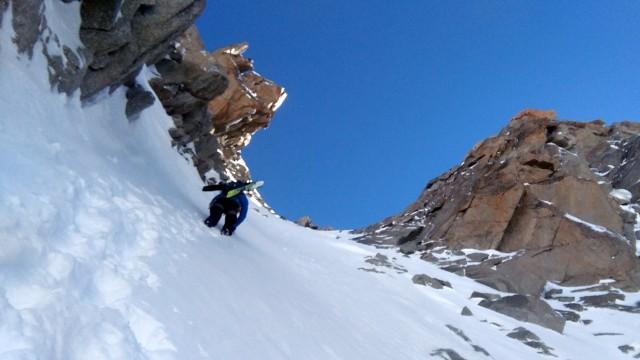 Grant climbing Gervasutti