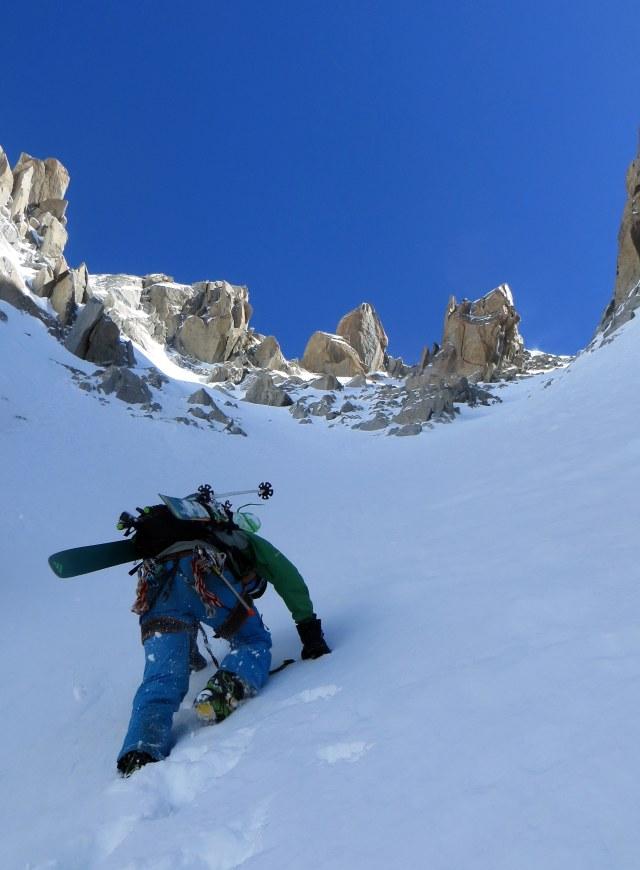 Pete climbing Gervasutti