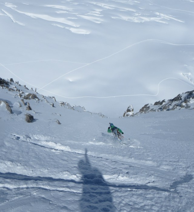 Tour Ronde north face, first turns